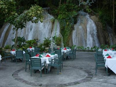 The ruins at the falls restaurant