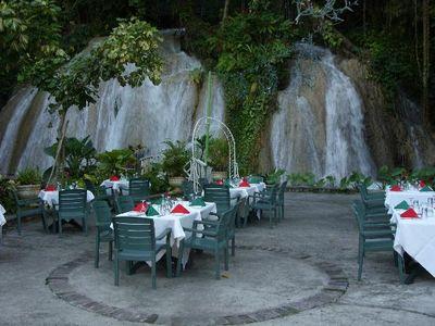 The ruins at the falls restaurant